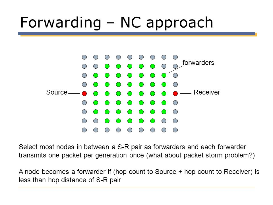 Forwarding – NC approach