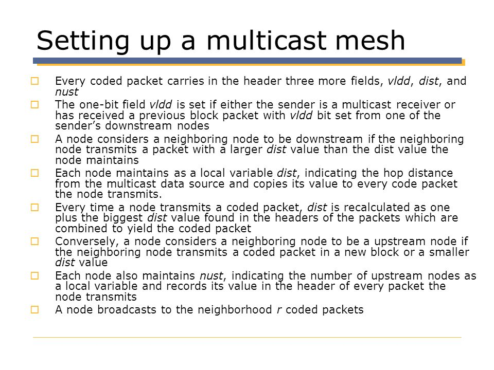 Setting up a multicast mesh