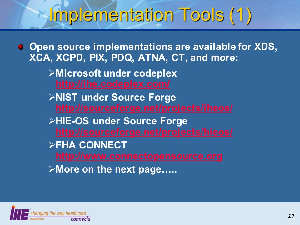 Implementation Tools (1)