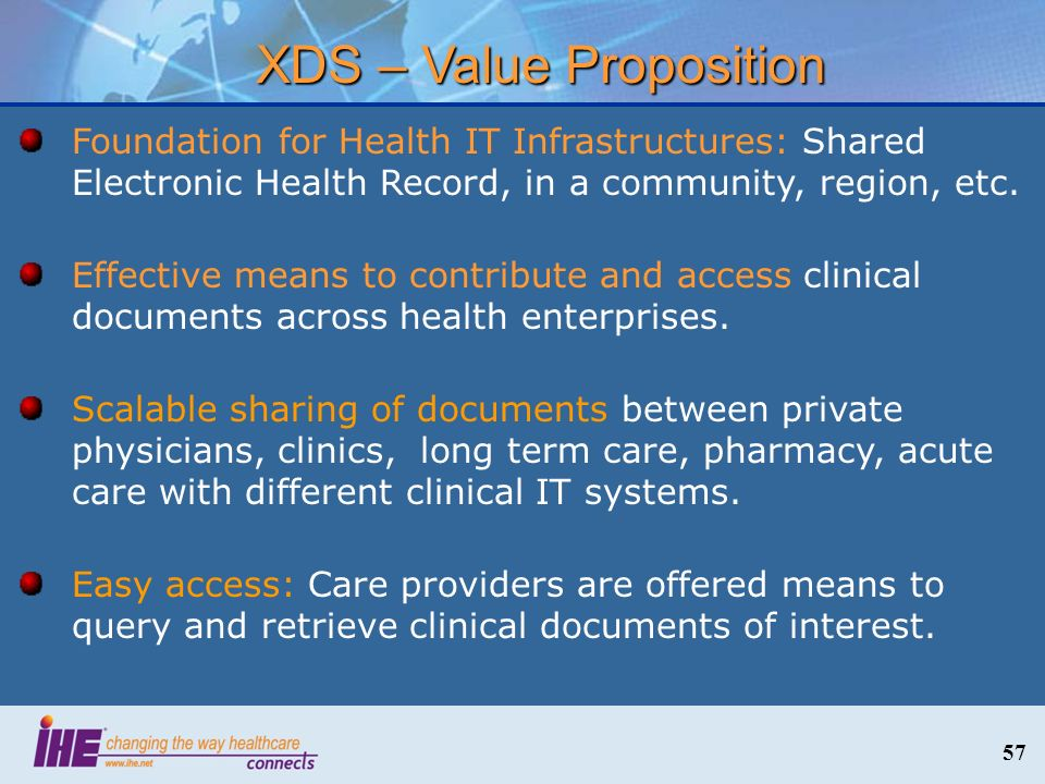 XDS – Value Proposition