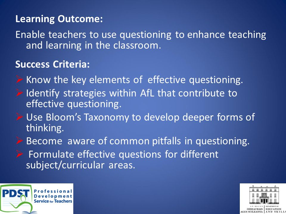 Deeper Learning A Collaborative Classroom Is Key ~ Effective questioning ppt download