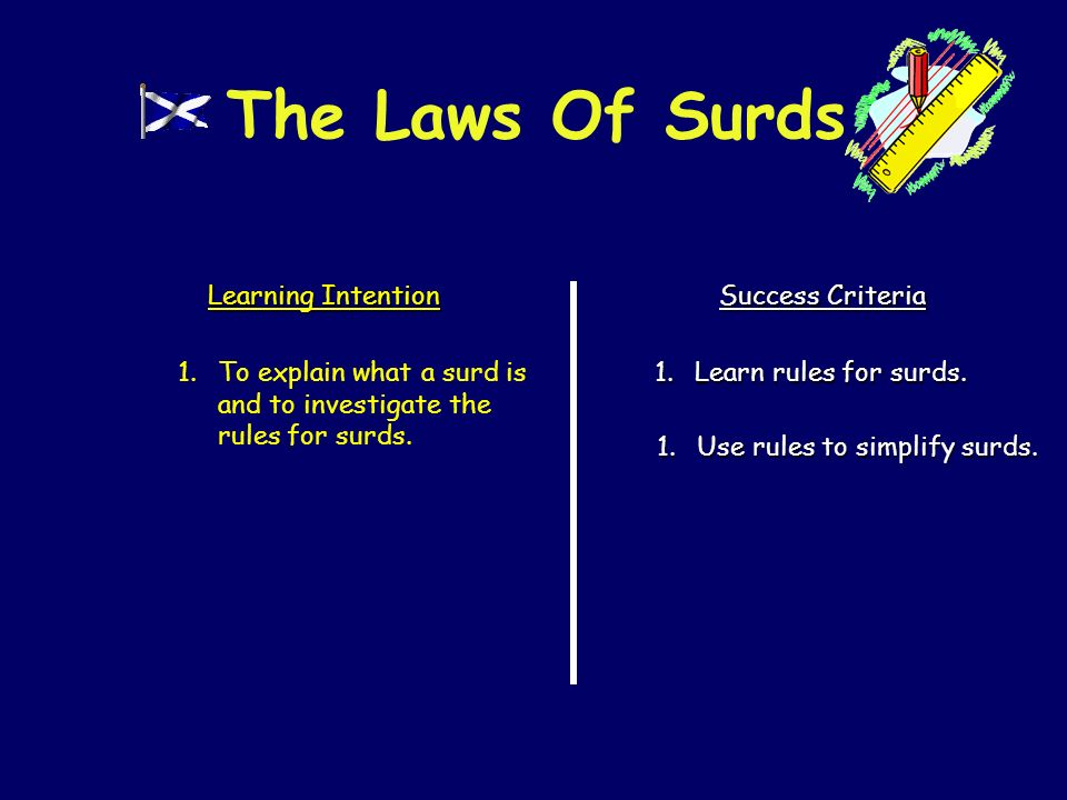secondary education - How to practically teach surds ...