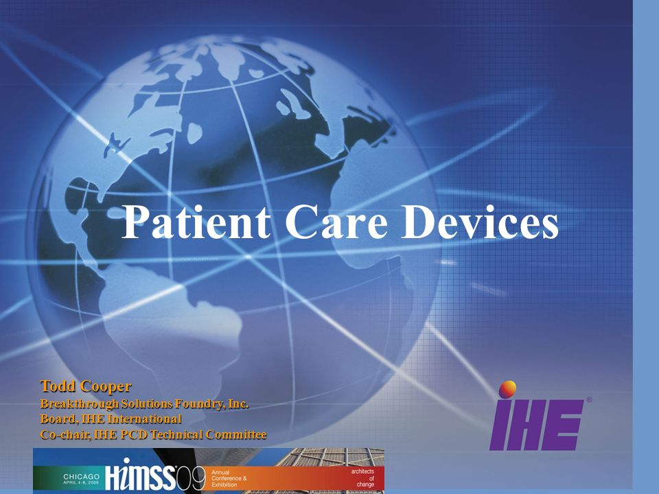 Patient Care Devices Todd Cooper Breakthrough Solutions Foundry, Inc.