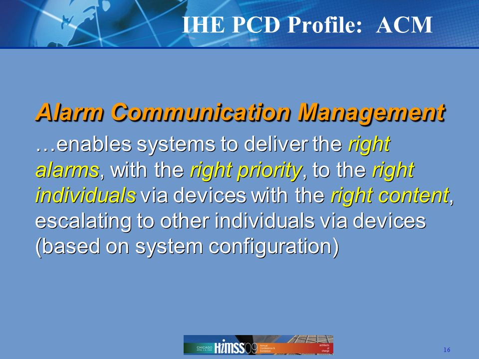 Alarm Communication Management