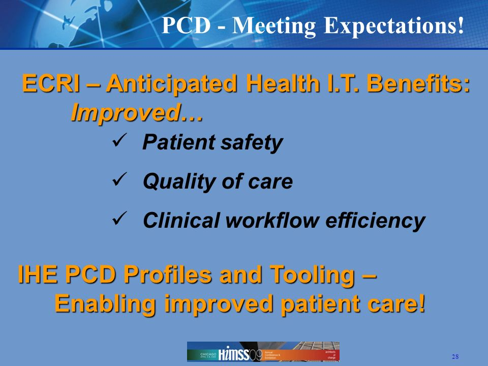 PCD - Meeting Expectations!