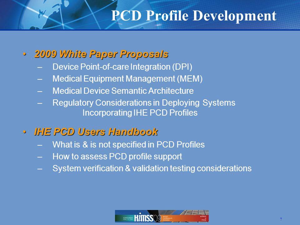 PCD Profile Development