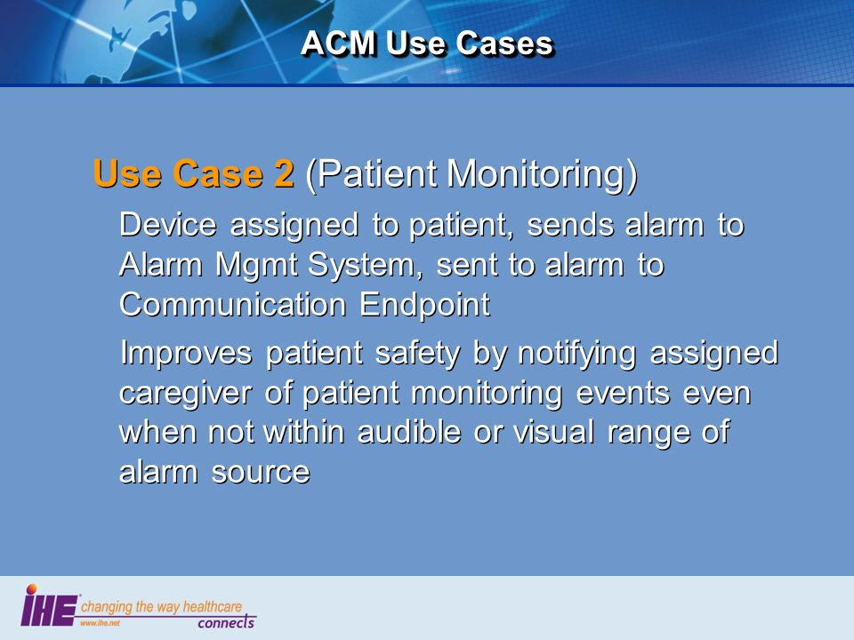 Use Case 2 (Patient Monitoring)
