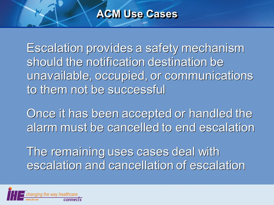 ACM Use Cases