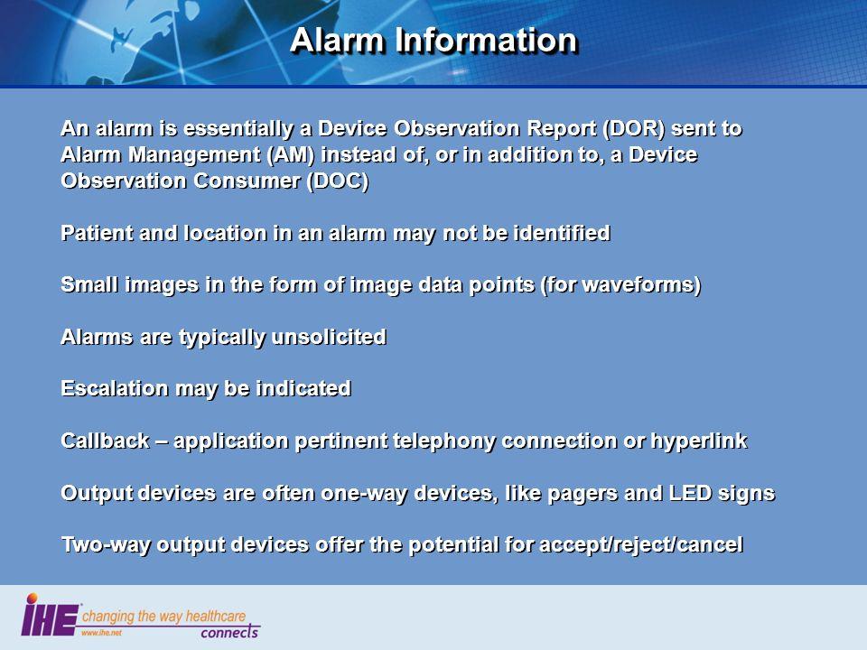 Alarm Information