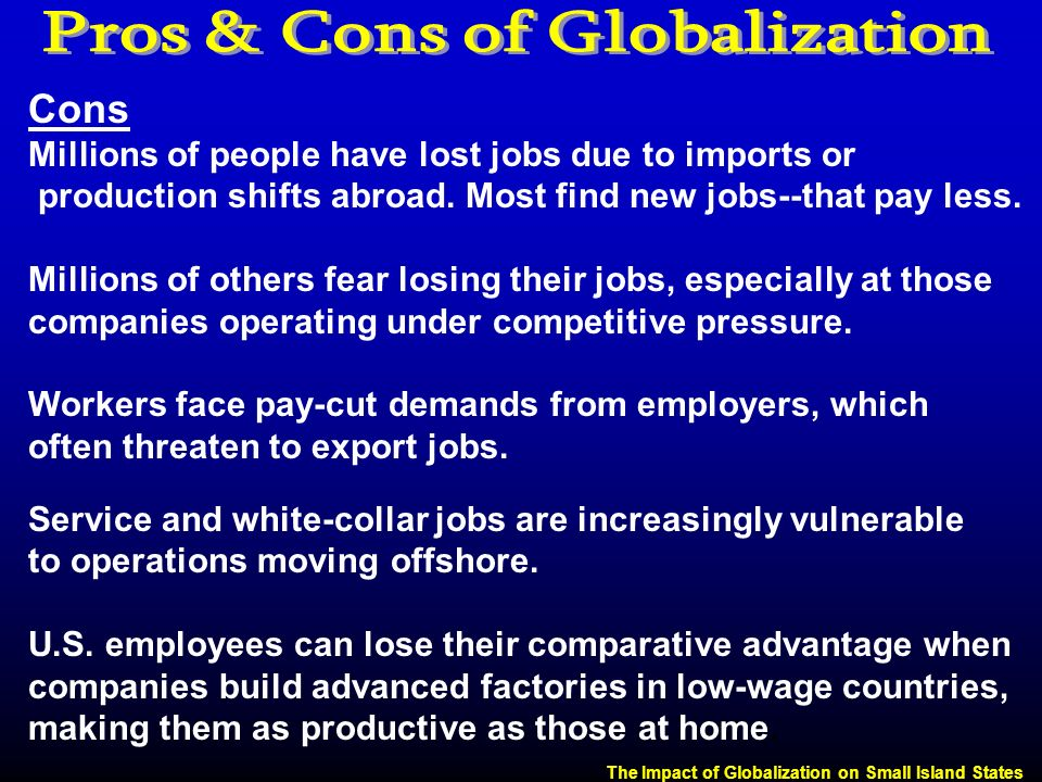 pros and cons of globalization pdf