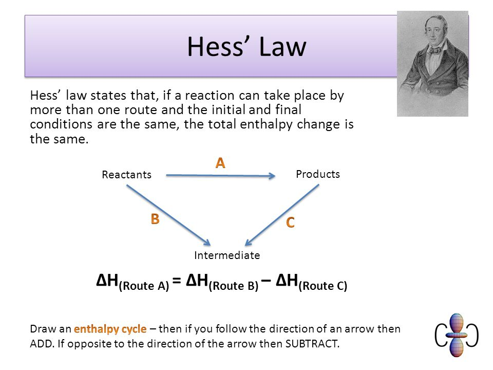 Lesson 5 – Hess' law and enthalpy cycles - ppt download