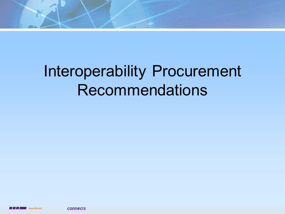 Interoperability Procurement Recommendations