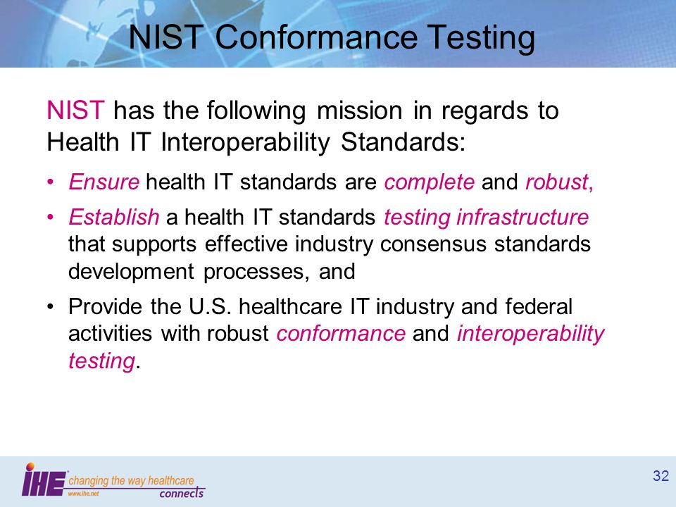 NIST Conformance Testing