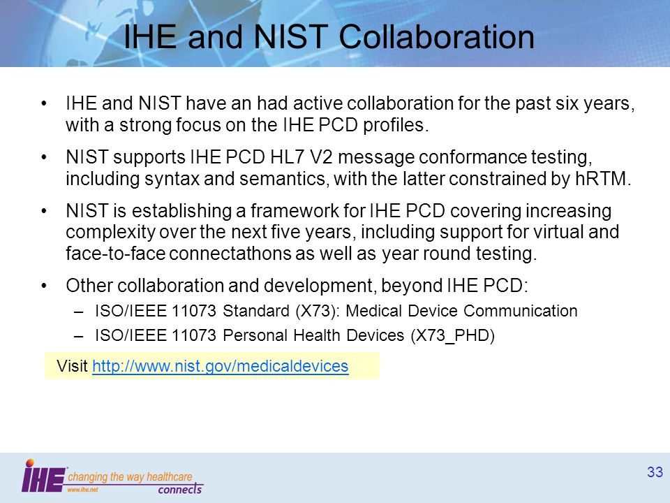 IHE and NIST Collaboration