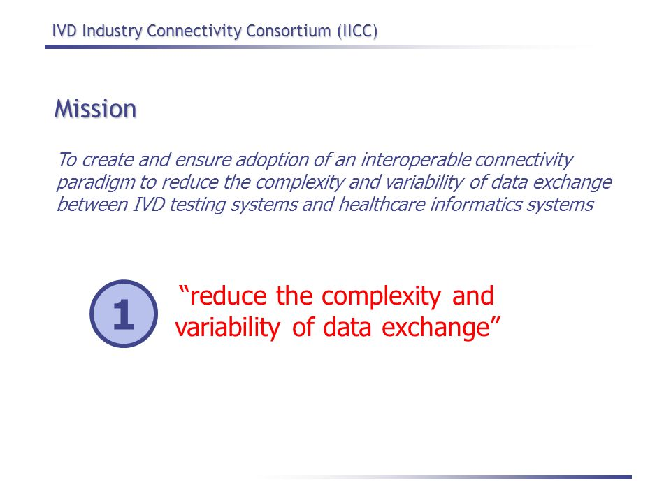 reduce the complexity and variability of data exchange