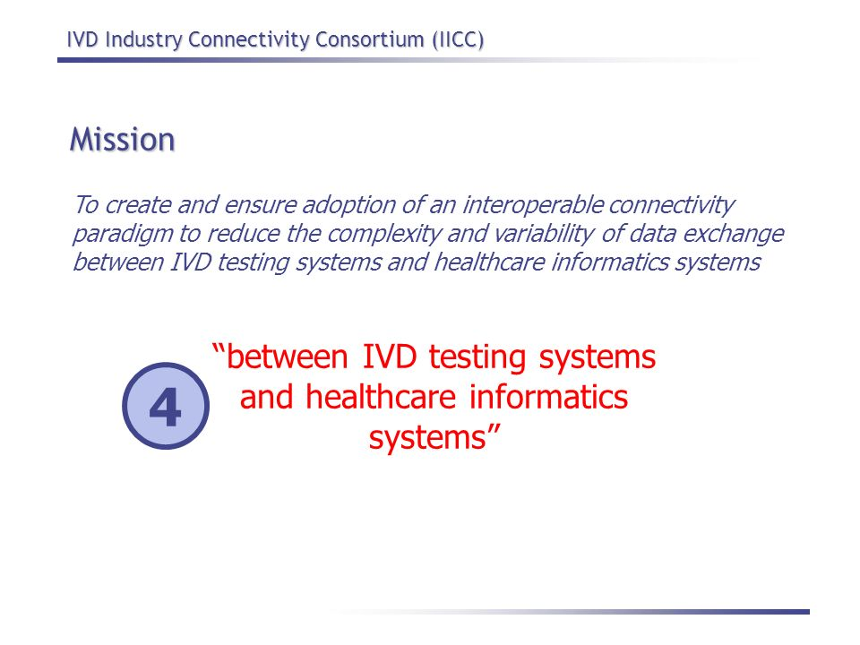 between IVD testing systems and healthcare informatics systems