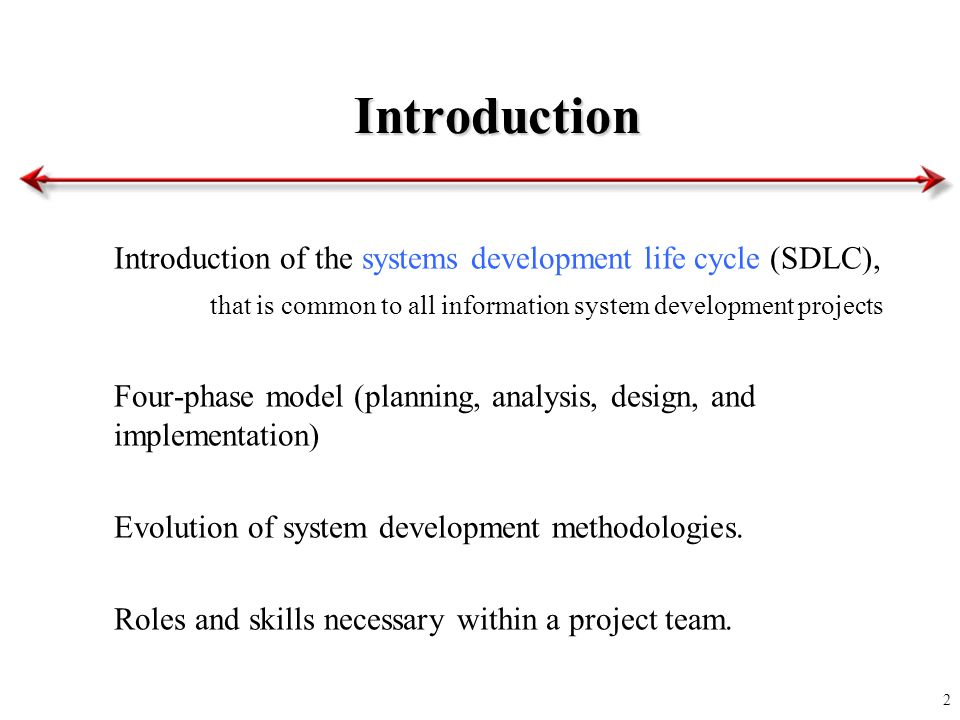 an introduction to the system development cycle An introduction to continuous integration, delivery, and deployment  instead of building out features in isolation and integrating them at the end of a development cycle, code is.