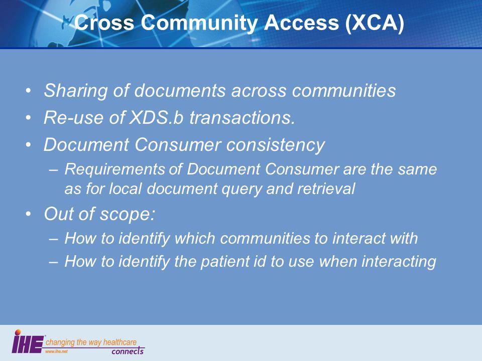 Cross Community Access (XCA)