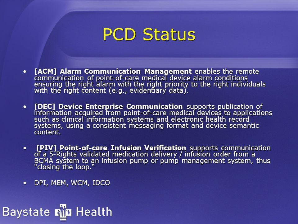 PCD Status