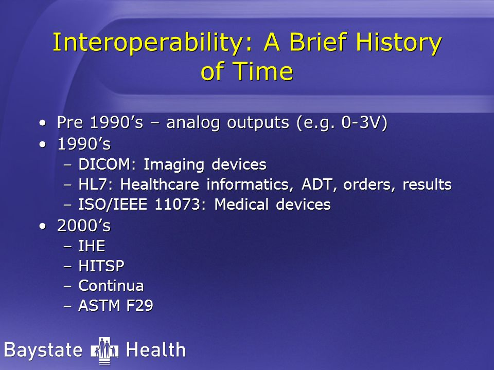 Interoperability: A Brief History of Time
