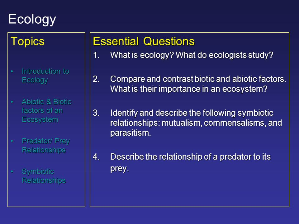 An overview of the predators in the ecosystem and their role in the ecosystem management