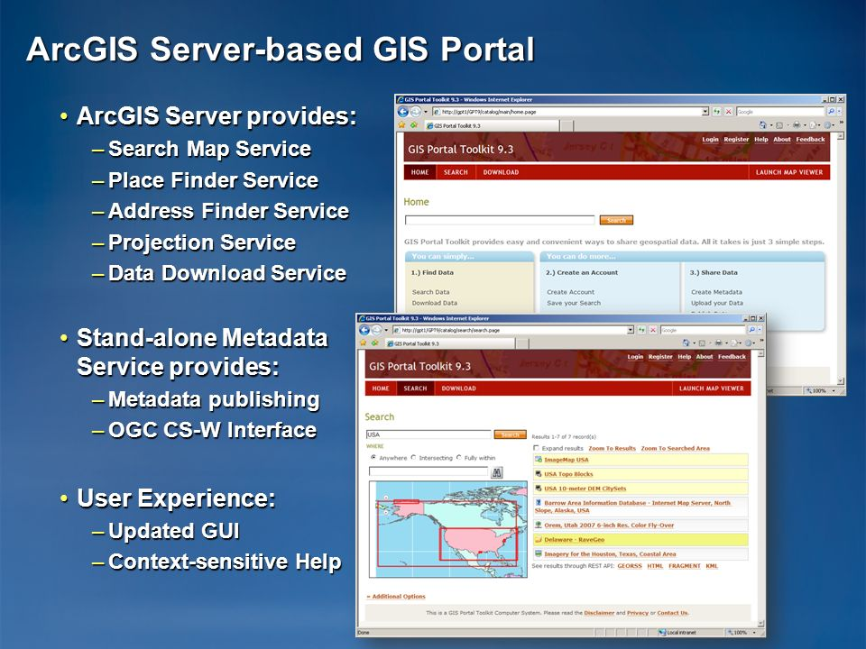 ArcGIS Server-based GIS Portal