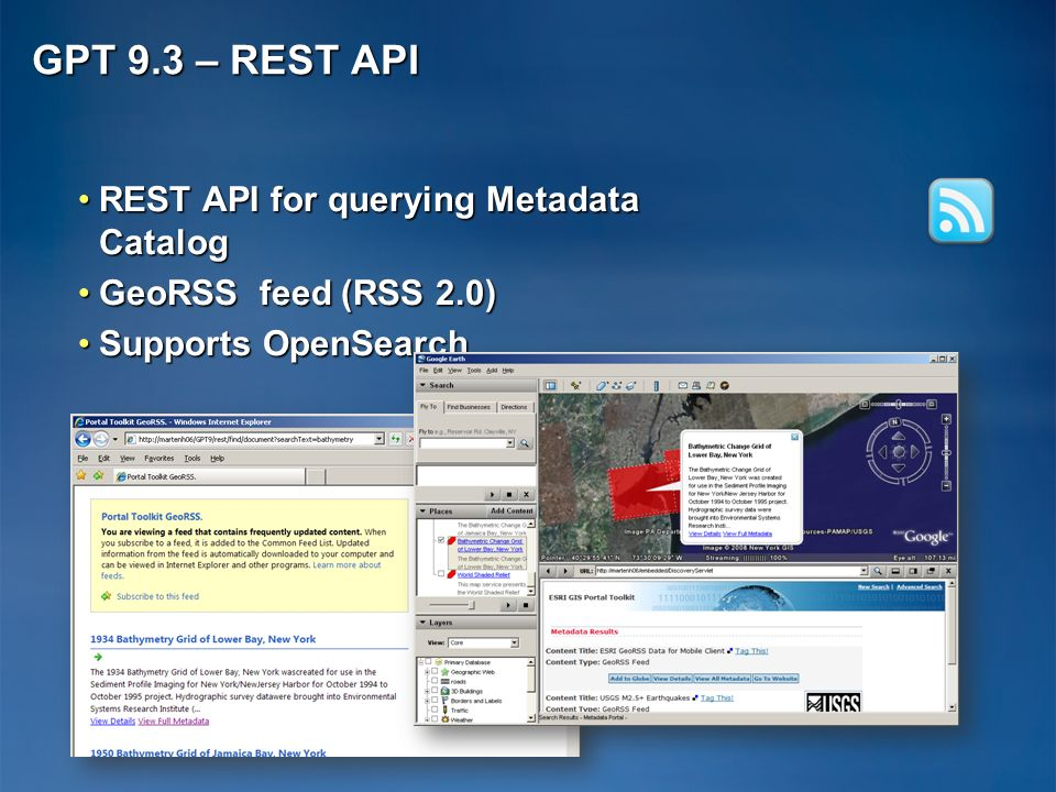 GPT 9.3 – REST API REST API for querying Metadata Catalog