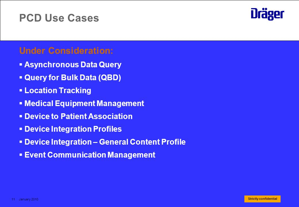 PCD Use Cases Under Consideration: Asynchronous Data Query
