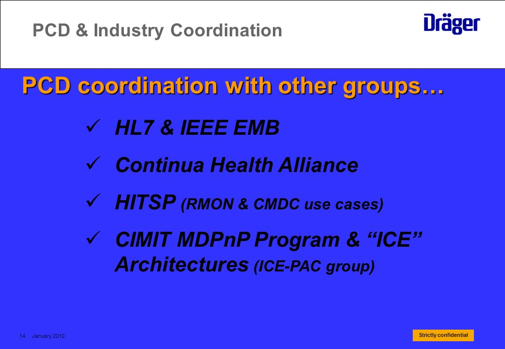 PCD & Industry Coordination