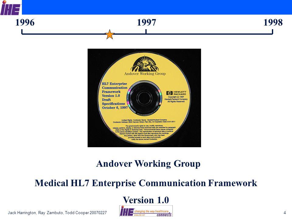1996 1997 1998 Andover Working Group Medical HL7 Enterprise Communication Framework Version 1.0