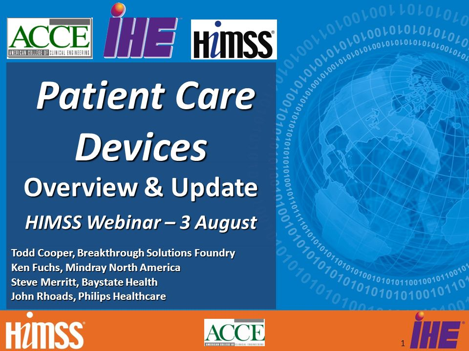 Overview & Update HIMSS Webinar – 3 August