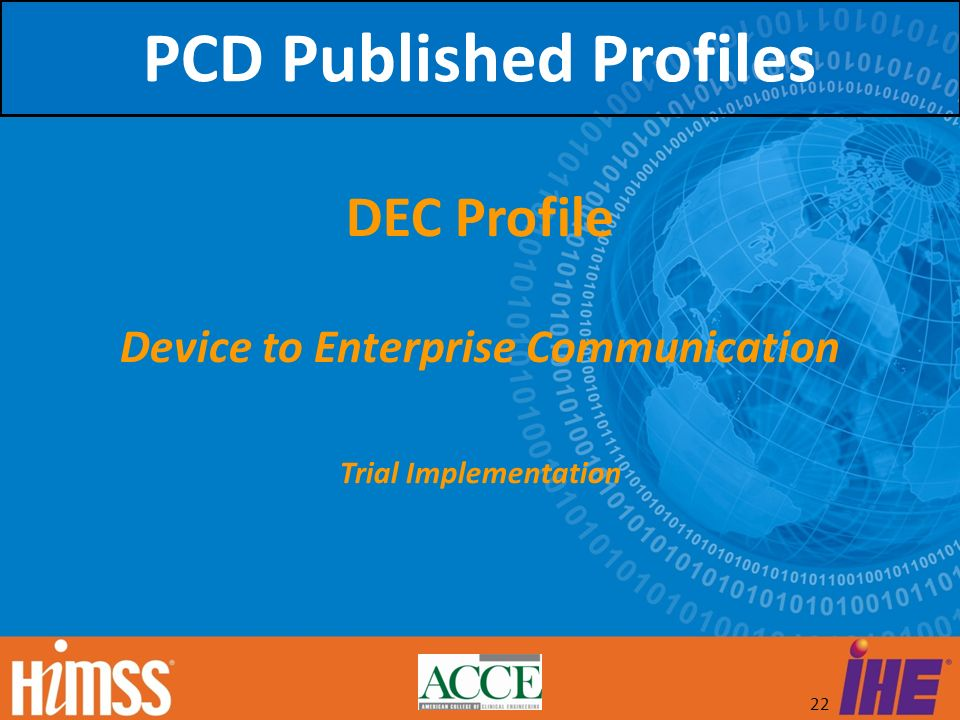 PCD Published Profiles Device to Enterprise Communication