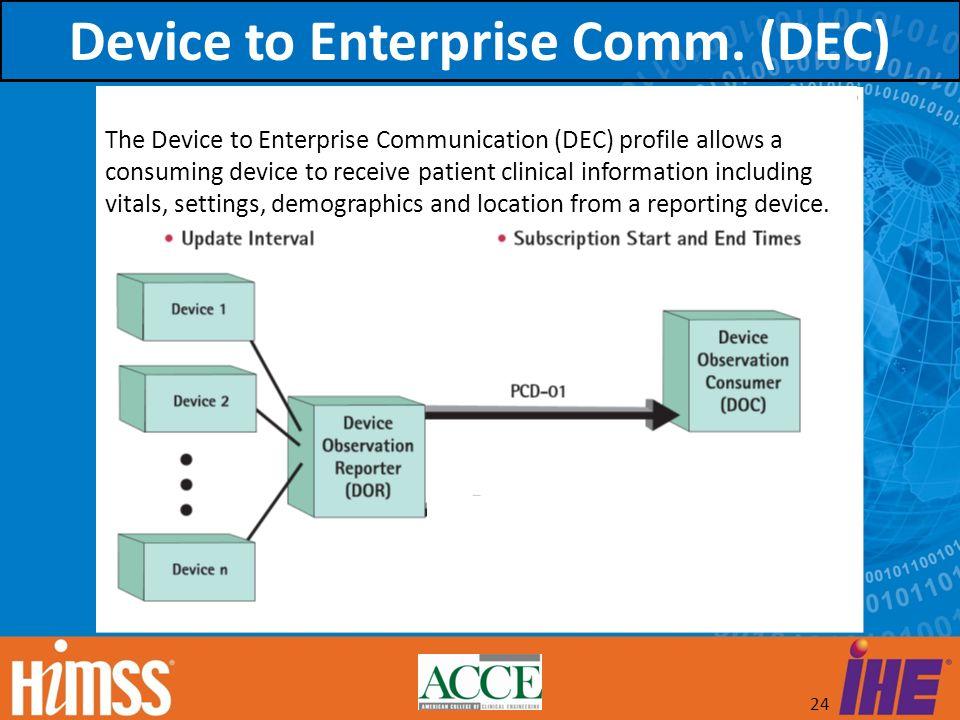 Device to Enterprise Comm. (DEC)