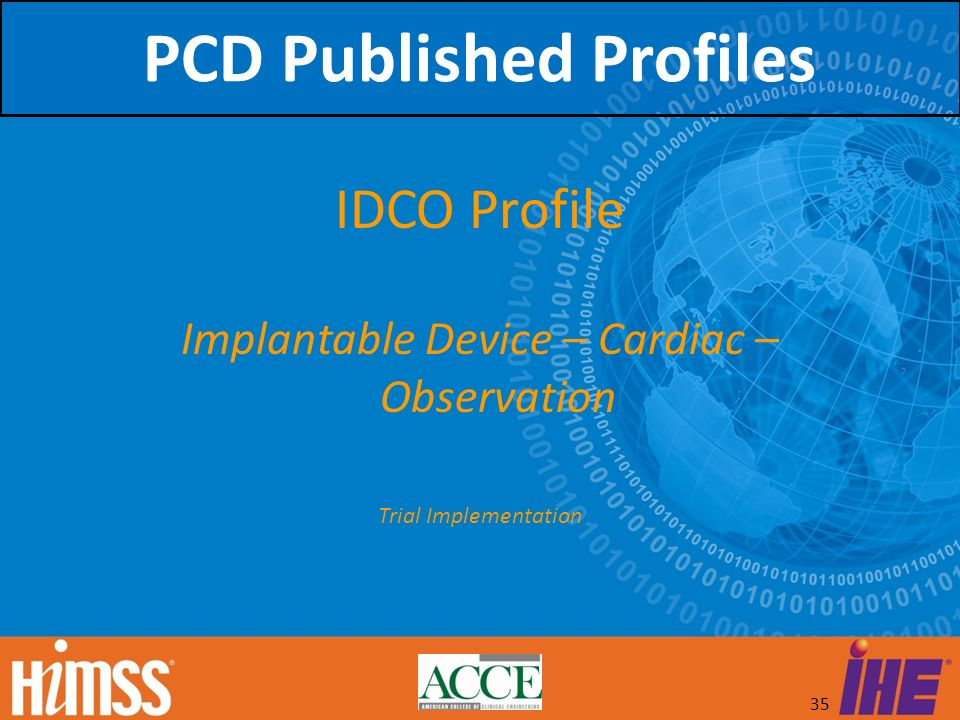 PCD Published Profiles