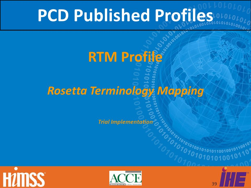 PCD Published Profiles Rosetta Terminology Mapping