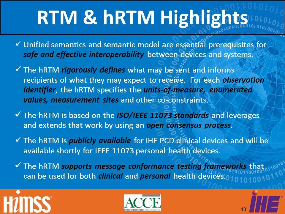 RTM & hRTM Highlights