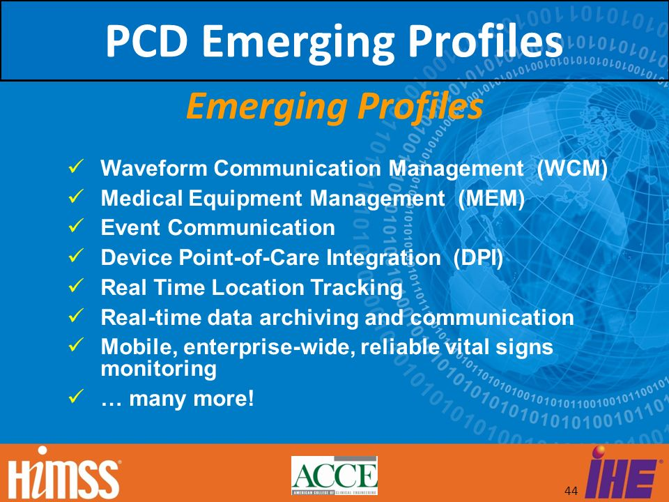 PCD Emerging Profiles Emerging Profiles