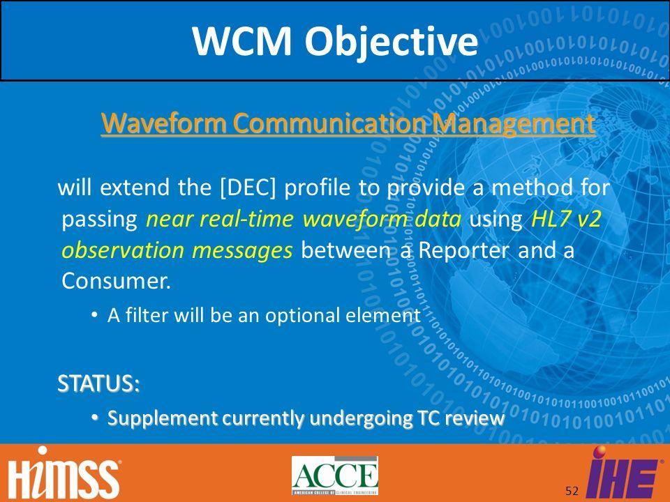 Waveform Communication Management