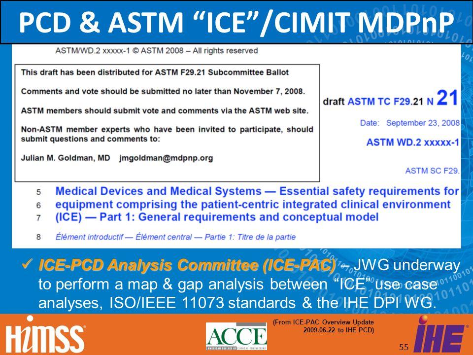 PCD & ASTM ICE /CIMIT MDPnP