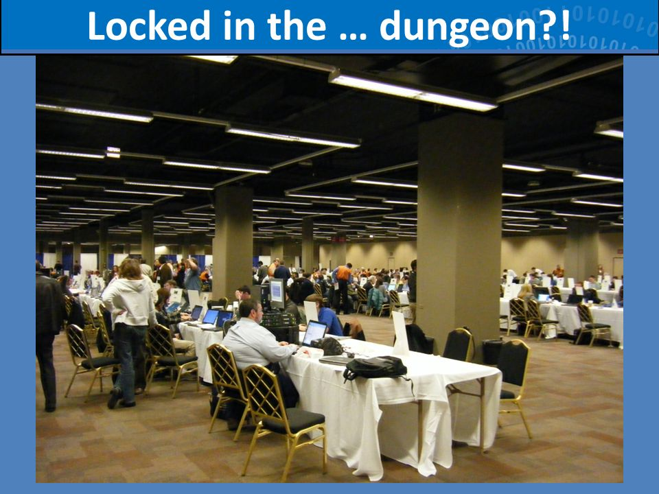 Locked in the … dungeon !