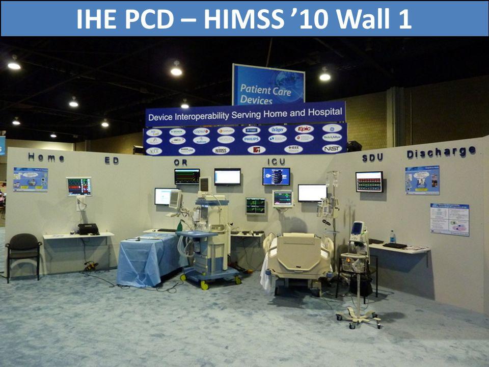 IHE PCD – HIMSS '10 Wall 1 72