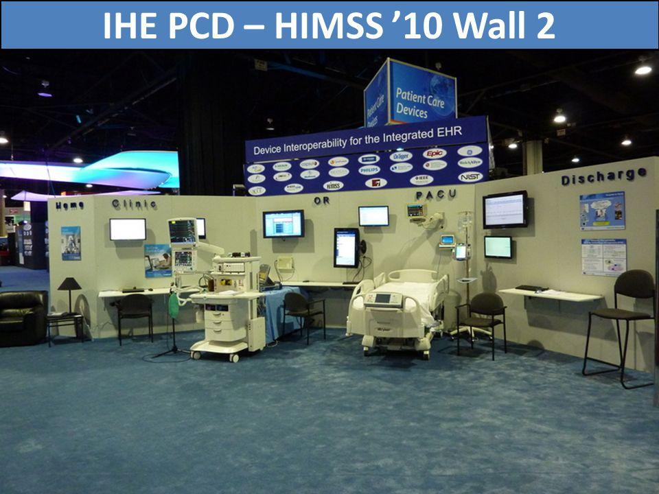 IHE PCD – HIMSS '10 Wall 2 73