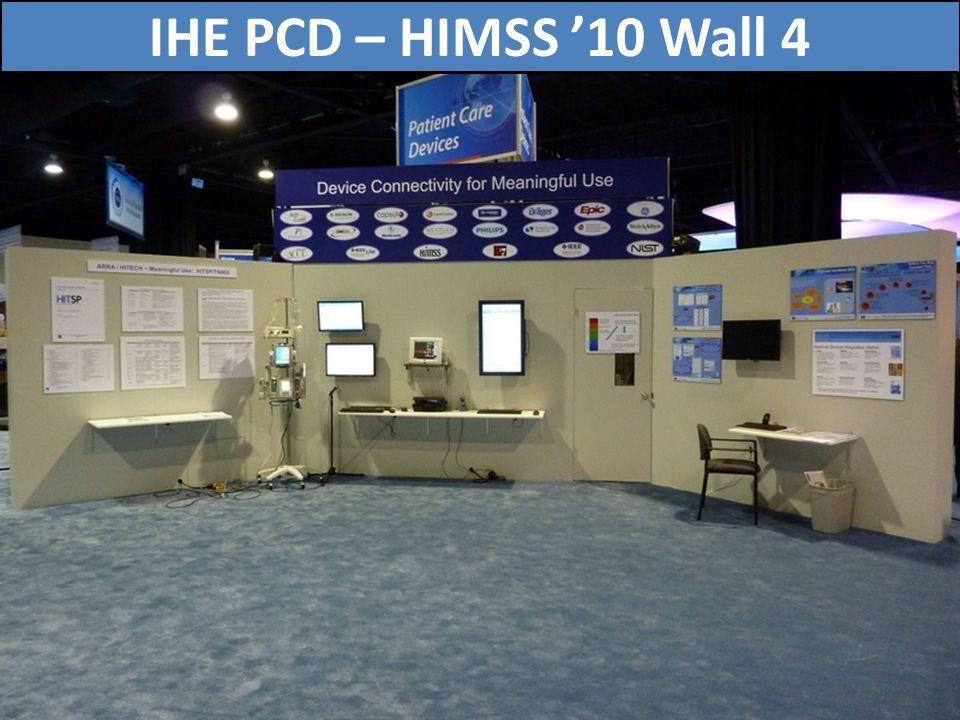 IHE PCD – HIMSS '10 Wall 4 75