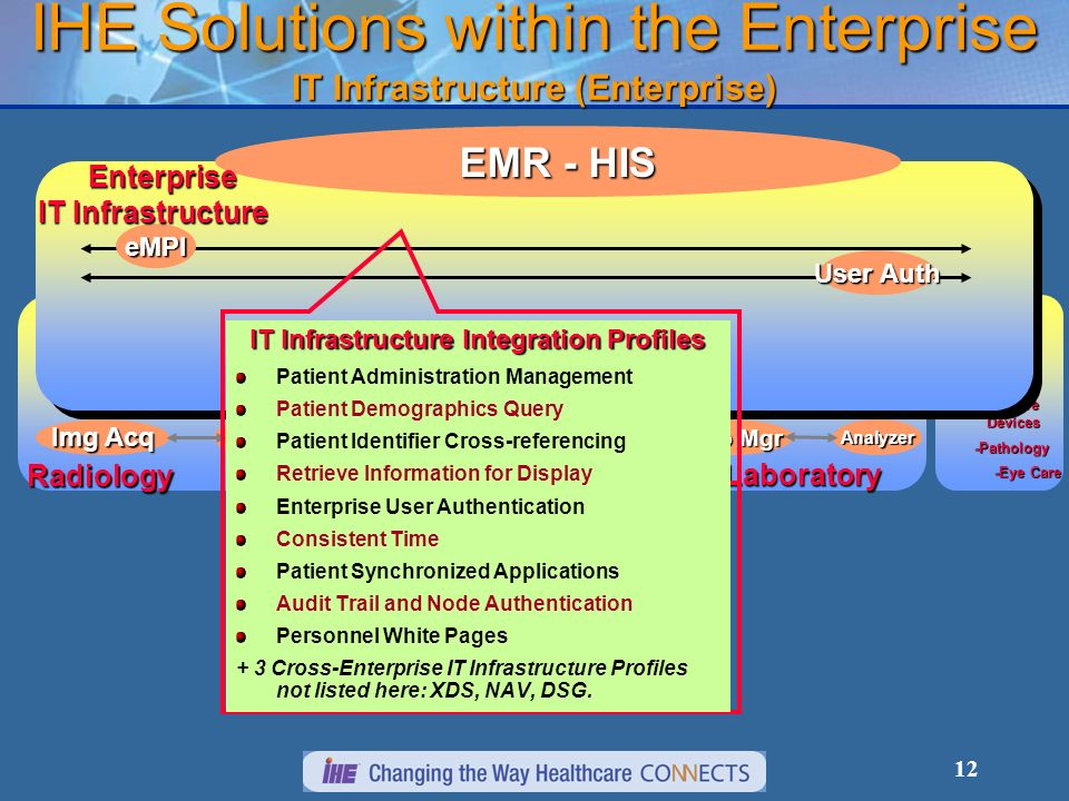 IHE Solutions within the Enterprise IT Infrastructure (Enterprise)