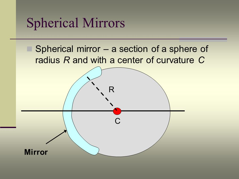 Ray Diagrams - Concave Mirrors