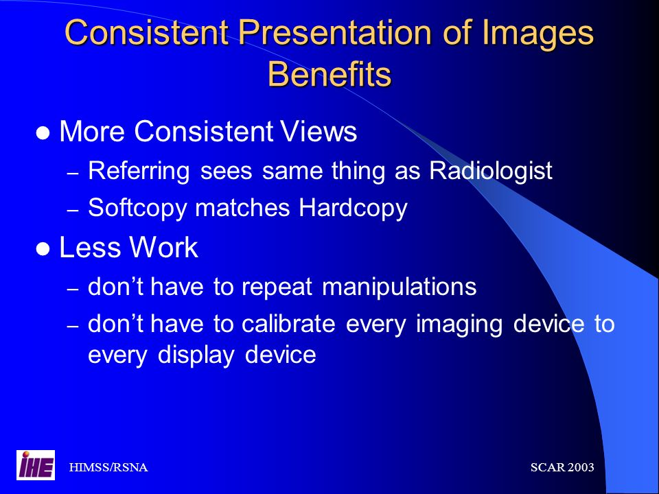 Consistent Presentation of Images Benefits