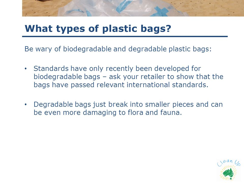 What types of plastic bags