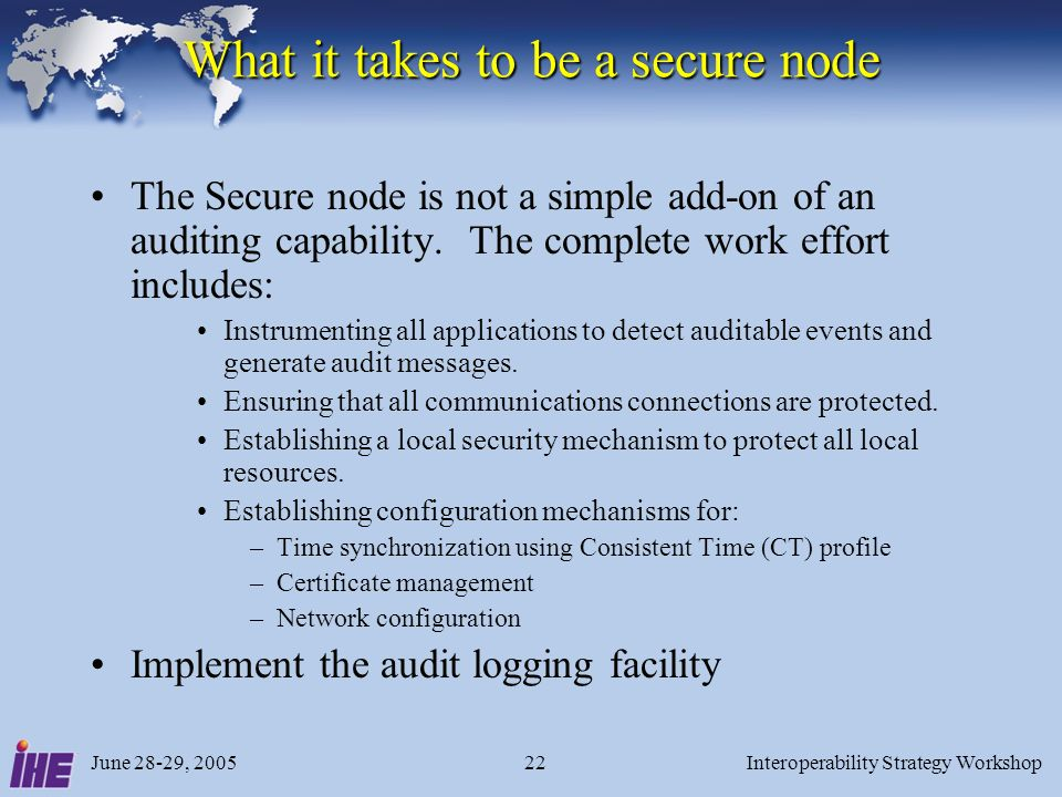 What it takes to be a secure node