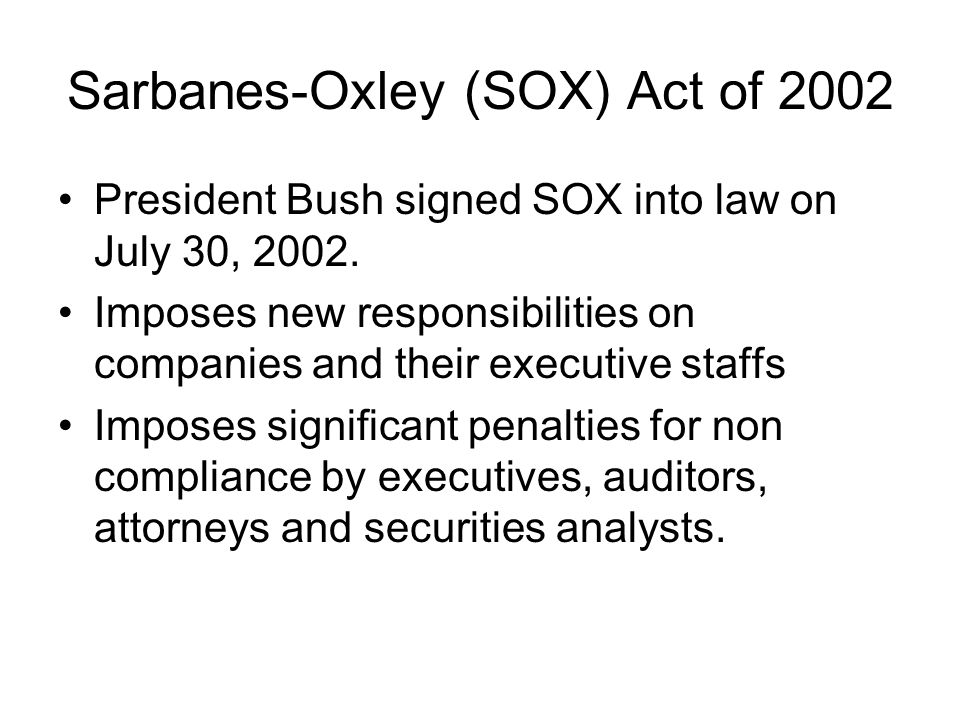Sarbanes–Oxley Act