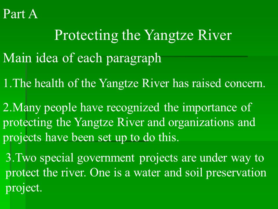 Protecting the Yangtze River